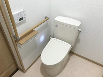 2部屋だったトイレを1部屋に!広々とした空間になりました。